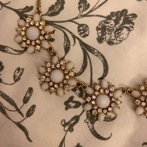White and Gold statement necklace